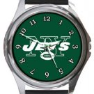The New York Jets Round Metal Watch