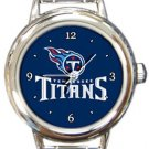 The Tennessee Titans Round Italian Charm Watch