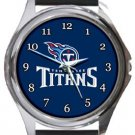 The Tennessee Titans Round Metal Watch