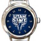 Utah State University Aggies Round Italian Charm Watch