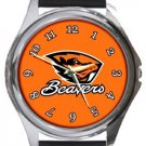 The Oregon State Beavers Round Metal Watch