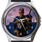 The Deathstroke Round Metal Watch
