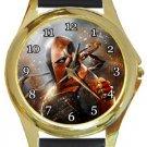 Deathstroke Gold Metal Watch