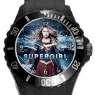 Supergirl Plastic Sport Watch In Black