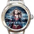 Supergirl Round Italian Charm Watch
