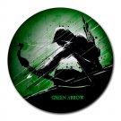 Green Arrow Heat-Resistant Round Mousepad