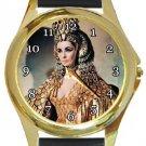 Elizabeth Taylor as Queen Cleopatra Gold Metal Watch