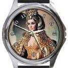 Elizabeth Taylor as Queen Cleopatra Round Metal Watch
