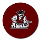 New Mexico State Aggies Heat-Resistant Round Mousepad