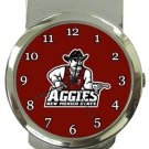 New Mexico State Aggies Money Clip Watch