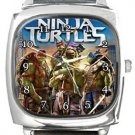 Teenage Mutant Ninja Turtles Square Metal Watch