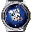 New England Patriots Helmet Round Metal Watch