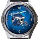 Seattle Seahawks Helmet Round Metal Watch