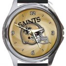 New Orleans Saints Helmet Round Metal Watch