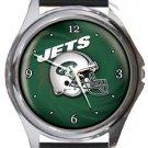 New York Jets Helmet Round Metal Watch