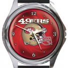San Francisco 49ers Helmet Round Metal Watch