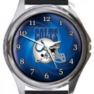 Indianapolis Colts Helmet Round Metal Watch