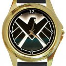 Agents of SHIELD Gold Metal Watch