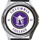 Columbia College Round Metal Watch