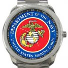 Dept of the Navy US Marine Corps Sport Metal Watch