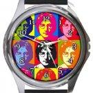 John Lennon Andy Warhol Round Metal Watch