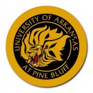 Arkansas Pine Bluff Golden Lions Heat-Resistant Round Mousepad