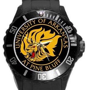 Arkansas Pine Bluff Golden Lions Plastic Sport Watch In Black