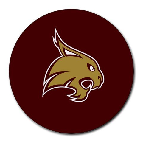 Texas State Bobcats Heat-Resistant Round Mousepad