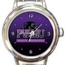 Prairie View A&M Panthers Round Italian Charm Watch