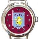Aston Villa FC Round Italian Charm Watch