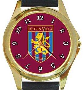 Aston Villa Football Club Gold Metal Watch