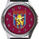 Aston Villa Football Club Round Metal Watch