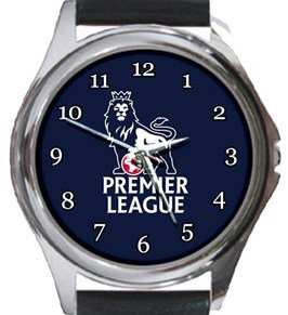 Premier League Round Metal Watch