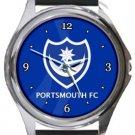 Portsmouth FC Round Metal Watch