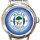 Wigan Athletic FC Round Italian Charm Watch