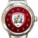 Barnsley FC Round Italian Charm Watch