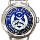 Hungerford Town FC Round Italian Charm Watch