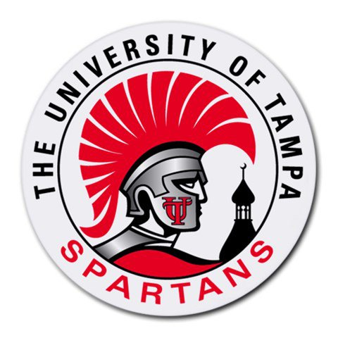University of Tampa Spartans Heat-Resistant Round Mousepad