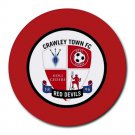 Crawley Town FC Heat-Resistant Round Mousepad