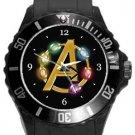 Avengers Infinity Stones Plastic Sport Watch In Black