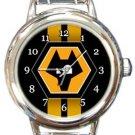 Wolverhampton Wanderers FC Round Italian Charm Watch