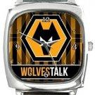 Wolverhampton Wanderers FC WolvesTalk Square Metal Watch