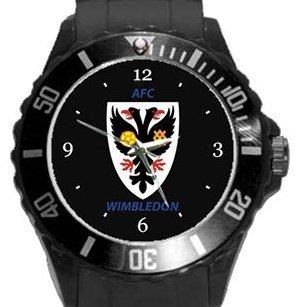 AFC Wimbledon Plastic Sport Watch In Black
