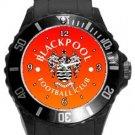 Blackpool Football Club Plastic Sport Watch In Black