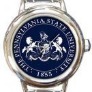 Pennsylvania State University Round Italian Charm Watch