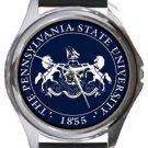 Pennsylvania State University Round Metal Watch