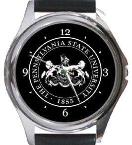 Pennsylvania State University Logo Round Metal Watch