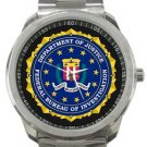 FBI Logo Sport Metal Watch