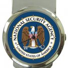 National Security Agency NSA Logo Money Clip Watch