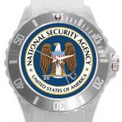 National Security Agency NSA Logo Plastic Sport Watch In White
